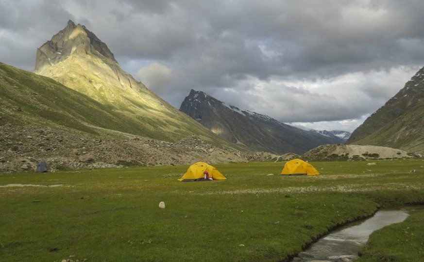 Miyar Valley-16 Phalpu, a beautiful campsite near the snout of Miyar Glacier.