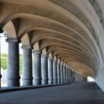 Wakkanai Port Northern Breakwater Dome - Colonnade like Greek construction