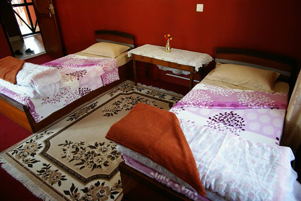 Kathmandu Homestay Double Bed room with attached western style bathroom