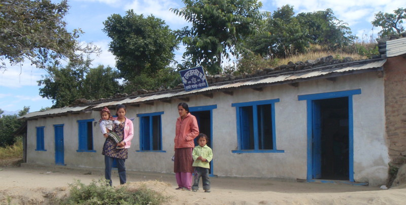 The primary school in Nuwakot