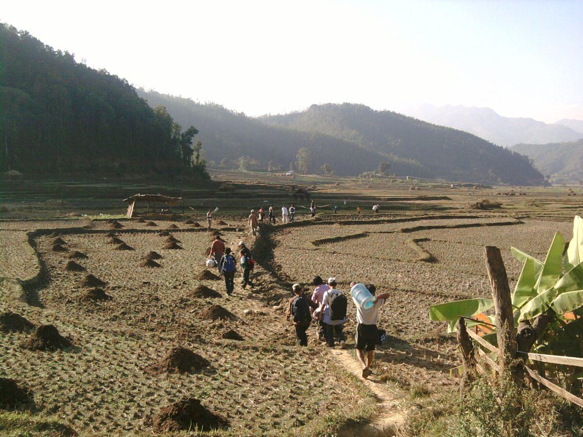 Trekking to Nuwakot