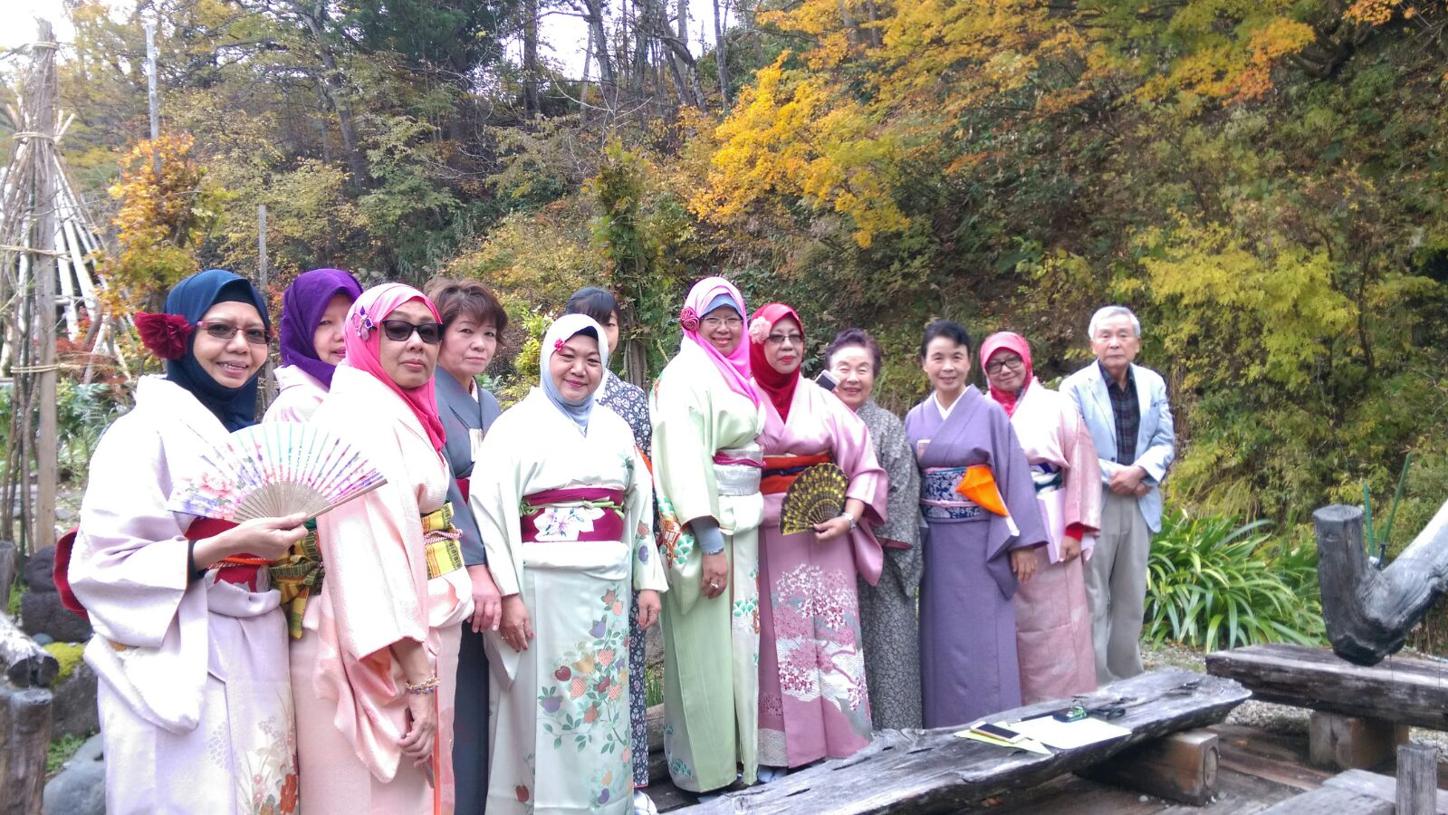 Kimono experience in the nature