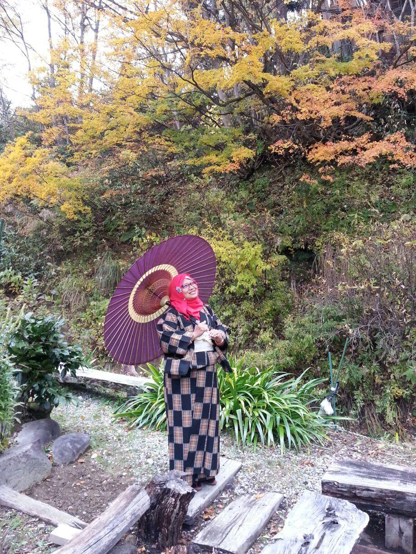 Kimono experience in the nature